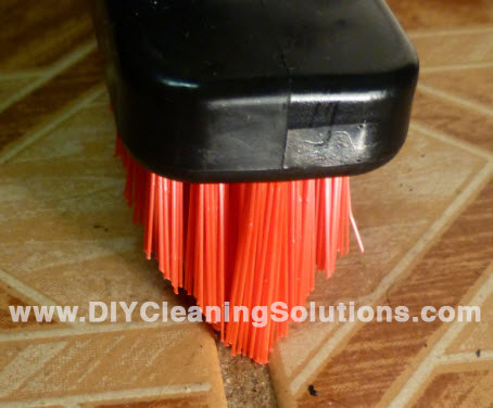 Grout Brush with V-Tip