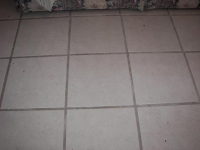 dirty grout before grout cleaning picture